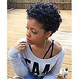 Short Black Afro Curly Wigs For Black Women Synthetic Short Wigs For Black Women Cheap Wigs For Women