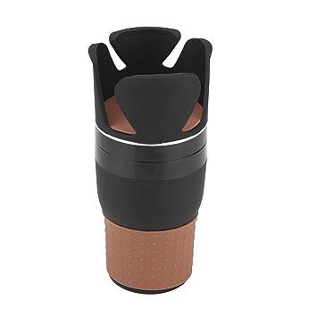 Aramox Soporte de botella caja de almacenaje organizador portavasos de coche 360 grados 5 en 1 multifuncional soporte de taza soporte de teléfono portátil ...