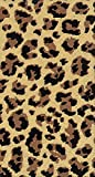 Paperproducts Design 2201 Guest Towel with Leopard Design, 5 x 8'', pack of 15, Multicolor