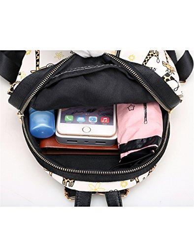 HUAYUN - Bolso mochila  de nailon para mujer Badge