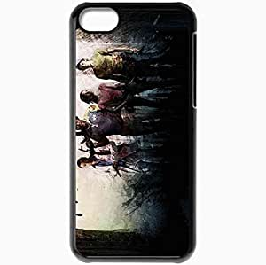 Personalized iPhone 5C Cell phone Case/Cover Skin Left 4 Dead Characters Faces Gun Black
