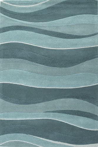 Kas Oriental Rugs Eternity Collection Landscapes Area Rug 8 X 10 6 Ocean Furniture Decor