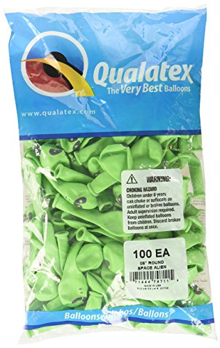 - Qualatex 79711 Space Alien - Lime Green Latex Balloons, 5