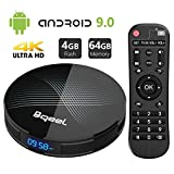 Android 9.0 TV Box 4GB RAM 64GB ROM, Bqeel U1 Pro Android Box RK3318 Quad-Core 64bits Dual-WiFi 2.4G/5.0G,3D Ultra HD 4K H.265 USB 3.0 BT 4.0 Smart TV Box
