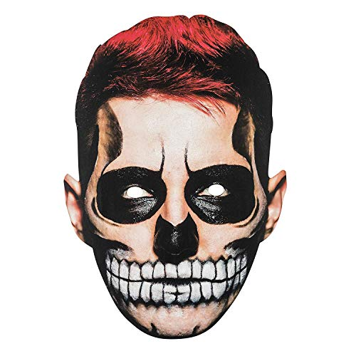 TRIXES Halloween Face Mask Scary Man 2D Fancy Dress – Parties and Trick or Treat -