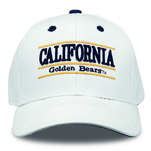 rnia Golden Bears Bar Design Hat, White, Adjustable ()