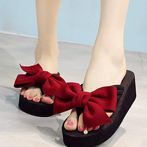 taille taille pieds Chaussons pantoufles femme talons chaussures en hauts facultative D couleurs épaisses 5 Couleur Pendentifs pieds Chaussures D extérieures avec pantalons option à Pantoufles xgwfYqPHY