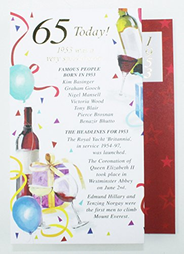 65 Today 1953 Special Year Born Happy Birthday Card Facts Quality