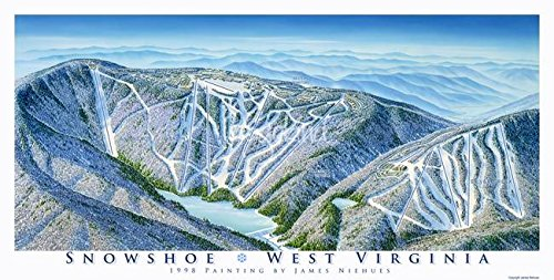Wall Art Print Entitled Snowshoe Resort  West Virginia By James Niehues   32 X 16