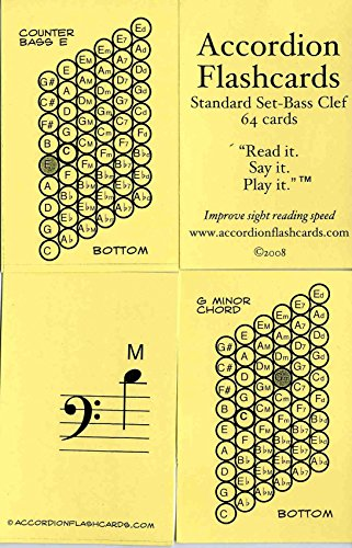 Accordion Flashcards- Bass Set