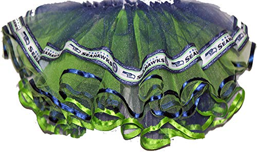 Costumes N Color Girls Seattle Seahawk Tutu (Small) Navy, Lime Green]()