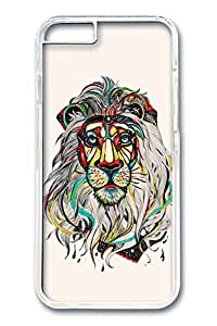 iPhone 6 Case, Lion Color Custom Hard PC Clear Case Cover Protector for New iPhone 6 4.7inch