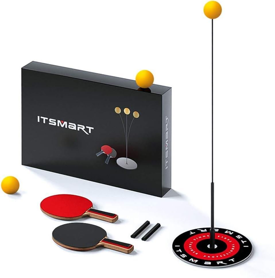 SSWJT - Juego de tenis de mesa con caña, 2 palas y 3 pelotas de ejercicios para entrenamiento, tiempo libre, descompresión, para niños y para interior y exterior