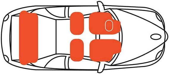 del 10.03 al 09.11 a medida 2 traseras 2 delanteras Alfombra Ypsilon 1 ba/úl beige Gama de alfombras de lujo GT