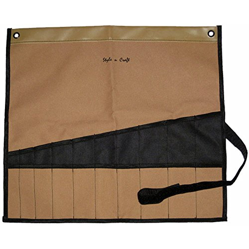Style n Craft 76-508 20 Pocket Chisel / Tool Roll Pouch, - Polyester Roll Bag