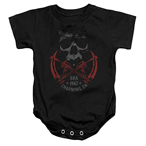 SOA - Sons Of Anarchy - Cross Guns Infant - Baby Onepiece Snapsuit (Anarchy Cross)