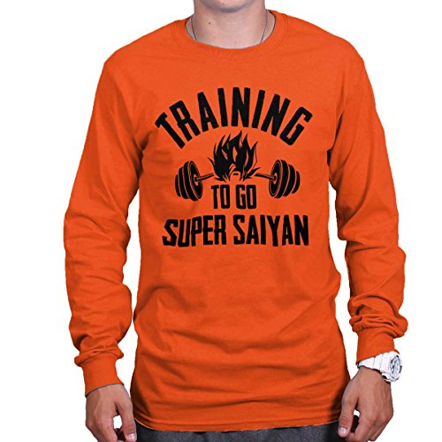 Brisco Brands Training Super Saiyan Funny Gym Workout Shirt Goku Dragon Z Long Sleeve Shirt - Gt Spec Trunk