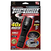 Bell + Howell Taclight High-Powered Magnetic Base Tactical Flashlight with 5 Modes & Zoom Function