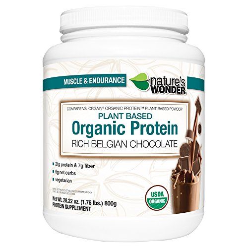 Nature's Wonder Organic Plant Based Protein Powder, Rich ...