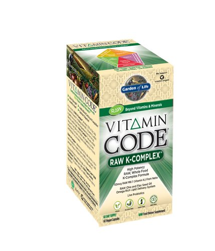 Garden Of Life Vitamin Code Raw K-Complex Capsules, 60 Count