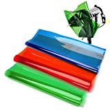 Selens 3 Pieces 15.8X19.7inch/40X50cm Gels Color Filter Paper Correction Gel Lighting Filter for Photo Studio Light Red Head Light Strobe Flashlight with 6 Wooden Clips Red/Blue/Green