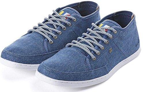 Boxfresh Sparko Azul Marrón Canvas Hombres Zapatos Botas