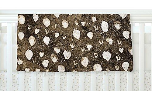 KESS InHouse Iris Lehnhardt Dots Grunge Brown White 30 x 40 Fleece Baby Blanket 40 x 30 [並行輸入品]   B077ZN7FX1