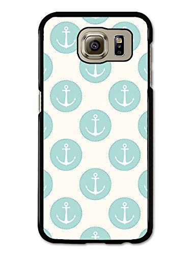 Anchor and Blue Circle Pattern on White Background Vintage coque pour Samsung Galaxy S6