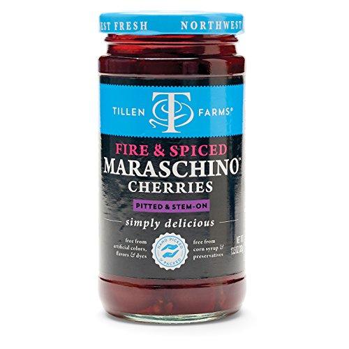 Tillen Farms Fire & Spiced Maraschino Cherries, 13.5 oz (Pack of 6)