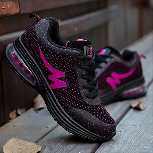 Sneakers Da Donna Leggerezza Comfort Suola Da Passeggio Casual Slip On Atletico Su Scarpe Sportive Rosse