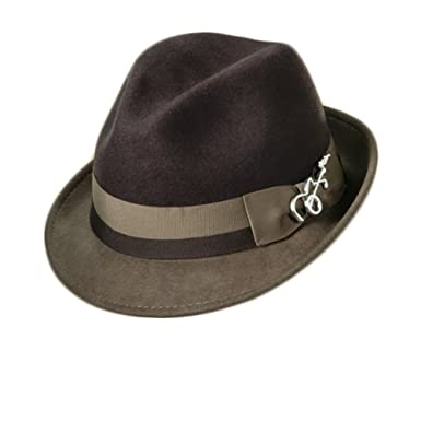 8d085b84 Image Unavailable. Image not available for. Color: Dorfman Pacific Carlos  Santana Bogart Fedora Hat (Brown ...
