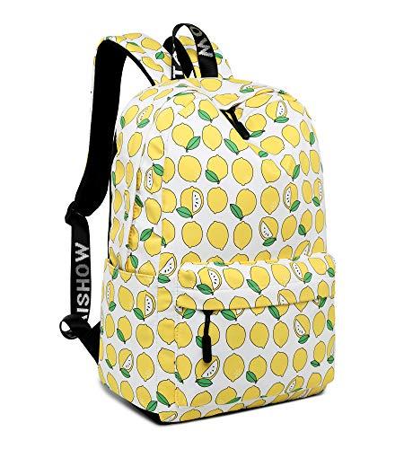 Leaper Cute Lemon Laptop Backpack Shoulder Backpack Girls School Bag Travel Bag