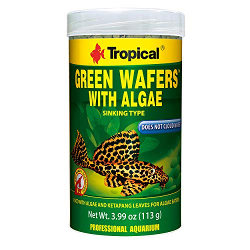 (Tropical USA Green Wafers with Algae Fish Food Tin, 113g)