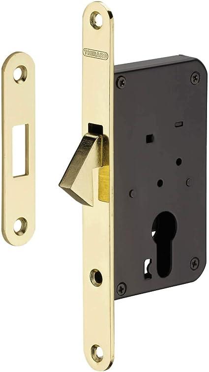 Thirard - GANCHO GANCHO con cilindro para puerta corredera, latón: Amazon.es: Bricolaje y herramientas