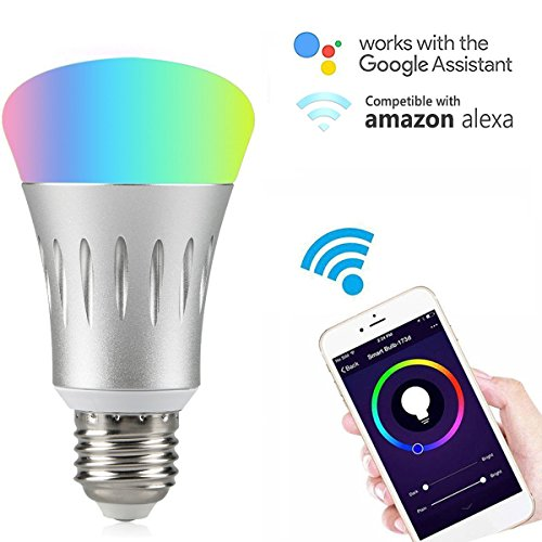 Wifi Smart LED Light Bulb Compatible with Alexa No...