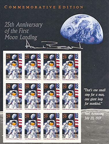 - 25th Anniversary of the First Moon Landing. Commemorative Edition. Sheet of 16 29 cents stamps.