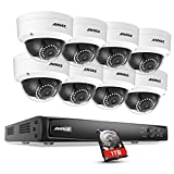 ANNKE Full 1080P Power over Ethernet Security Camera System 6.0MP NVR with 1TB Surveillance Hard Disk Drive and (8) 2.0M 1920TVL CCTV Network IP Cameras, Up to 100ft/30m Night Vision