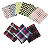 Weishang Mens Printing patterns Pocket Square Handkerchief Wedding Party(pack of 9) (A11)