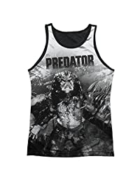 Predator in The Jungle Mens Tank Top Shirt with Black Back