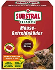 Substral Celaflor möss-spannmålsbete, applikationstillverkare, attraktivt bete för att bekämpa möss med aktiv ingrediens, 10 x 10 g portionspåsar
