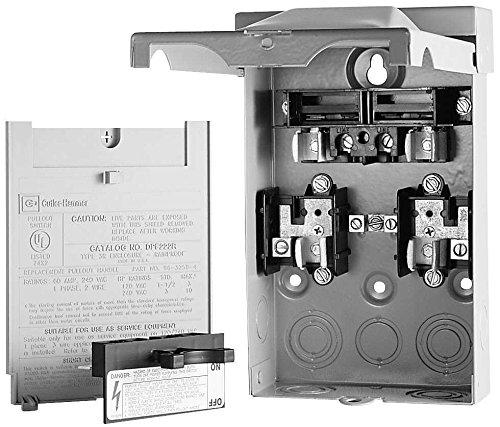 Eaton DPU362RA Ac Disconnect Rain Tight 3-Phase 60A 600V Non-Fuse, 1