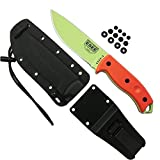 ESEE Authentic 5P-VG-E Tactical Survival Knife, Kydex Sheath w/Clip Plate