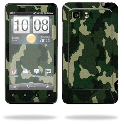 Mightyskins Protective Vinyl Skin Decal Cover for HTC Vivid 4G PH39100 B AT&T Cell Phone wrap sticker skins Green Camo (Ph39100 Cover Htc)