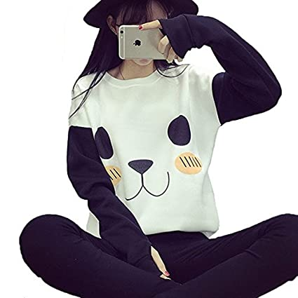 EDC-OnSale New College Wind Women Hoodies Fashion Cartoon Panda Sweatshirts Casual Printed Mixed Color Harajuku Tracksuits Female Picture Color XL at Amazon ...