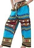 Product review for Raan Pah Muang RaanPahMuang Baggy Straight Leg Carnival Dashiki Print Unisex Pants Africa Print