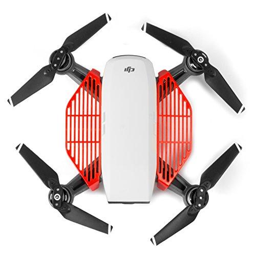 Kupton DJI Spark Finger Guard Board Hand Dam-Board Accessories for DJI Spark RC Drone, Guard Hand Protector (Red)
