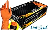 UNISEAL OPTIMUS PRO Dual Layer and Color Nitrile Exam Gloves 8 mil 12'' Cuff (2X Large 90 gloves)