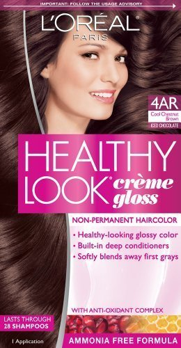 niceshop loreal paris healthy look creme gloss color cool chestnut brown - L Oral Gloss Color