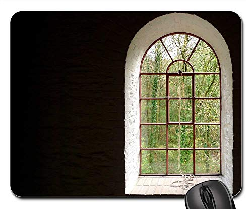 Mouse Pads - Window Arch Arched Frame Outside View