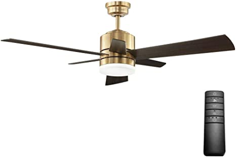 Home Decorators Collection Hexton Led Indoor Brushed Gold Ceiling Fan 52 In Amazon Com
